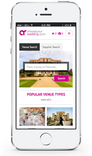 Chooseyourwedding.com on an iPhone